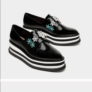 Zara platform oxfords